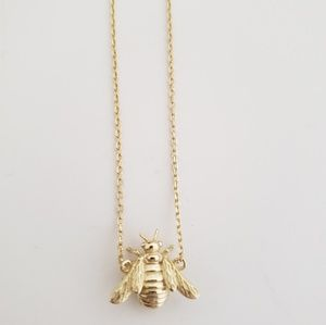 Bee necklace 925Sterling silver, gold jewelry